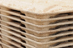 Pallets from recycled wood Royalty Free Stock Photography