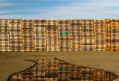 Pallets, Reflection, and Sky Stock Photos