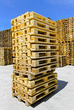 Pallets stack Stock Photo