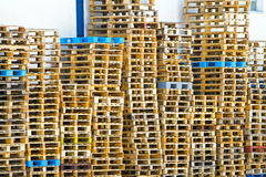 Pallets stack Royalty Free Stock Photography