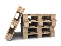 Pallets stack Stock Images
