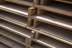 Pallets stacked Royalty Free Stock Images