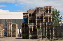Pallets in stacks Stock Photography