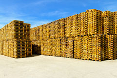 Pallets storehouse Royalty Free Stock Photography