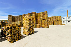 Pallets warehouse Stock Photography
