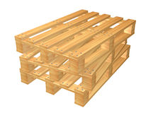Pallets. Wooden pallets isolated on white background Royalty Free Stock Photos