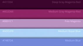 Pallette χρώματος, κοσμικά χρώματα Παλέτα χρώματος με τα διάφορα δείγματα Κατάλογος επιλογής χρωμάτων Στοκ Φωτογραφία