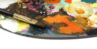 Pallette с щетками Стоковая Фотография RF