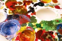 pallette творческих способностей грязное Стоковые Фото