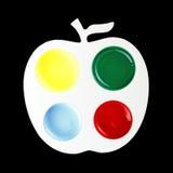 Pallette de Apple da cor Foto de Stock