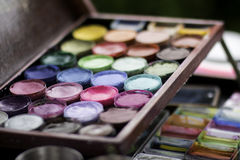 Pallette di Facepaint Fotografia Stock