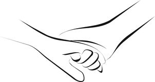 Palliative care. Hold hand and palliative care Royalty Free Stock Photos