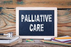 Palliative care. health and safety. Chalk board Background Stock Photos