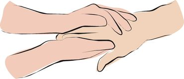 Palliative care and hold hands Royalty Free Stock Images