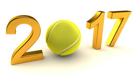 Pallina da tennis 2017 Fotografia Stock