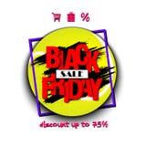 Pallina da tennis di vendita di Black Friday Immagini Stock