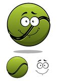 Pallina da tennis felice del fumetto Immagini Stock Libere da Diritti