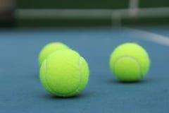 Pallina da tennis gialla Fotografia Stock