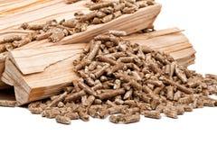 Pallina di legno Immagine Stock