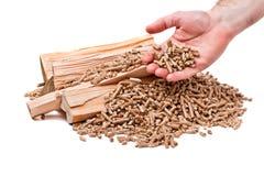 Pallina di legno Immagini Stock