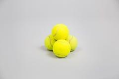 Palline da tennis gialle Immagini Stock