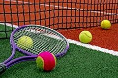 Palline da tennis & Racket-5 Immagine Stock