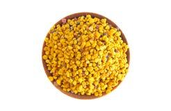 Palline del polline giallo dell'ape fotografia stock libera da diritti