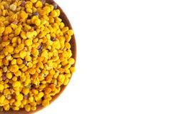 Palline del polline giallo dell'ape immagini stock