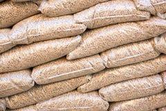 Palline di legno in sacchi Immagini Stock Libere da Diritti