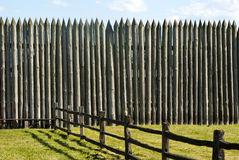 Pallisade on a Pioneer fortification. Of Fort Vancouver near Portland Oregon Royalty Free Stock Image