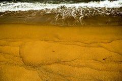 Palliyawatta beach, Sri Lanka. Small waves hitting the golden sands of Palliyawatta beach in Wattala, Sri Lanka stock images