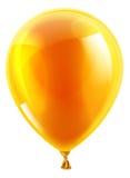 Pallone arancio del partito o di compleanno Immagine Stock Libera da Diritti