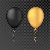 Pallone bianco di vettore su un fondo trasparente le feste felici realistiche 3d che pilotano l'elio dell'aria balloon Immagini Stock Libere da Diritti