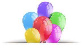 Pallone Colourful su fondo bianco illustrazione di stock