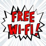 Pallone comico - testo libero di Wi-Fi Immagini Stock