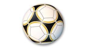 Pallone da calcio, articolo sportivo isolato su bianco Immagine Stock