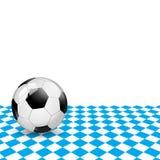 Pallone da calcio bavarese isolato Fotografia Stock Libera da Diritti