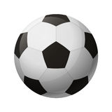Pallone da calcio in bianco e nero di cuoio Fotografia Stock Libera da Diritti