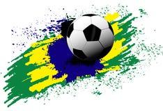 Pallone da calcio Brasile Immagine Stock