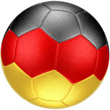 Pallone da calcio con la bandiera della Germania (fotorealistica) Fotografie Stock Libere da Diritti