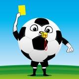 Pallone da calcio con una carta Fotografia Stock Libera da Diritti