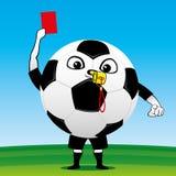 Pallone da calcio con una carta Immagini Stock