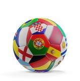 Pallone da calcio 3d-illustration Immagine Stock Libera da Diritti