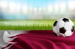 Pallone da calcio 3d-illustration del Qatar Illustrazione Vettoriale