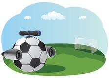 Pallone da calcio del getto Immagini Stock Libere da Diritti