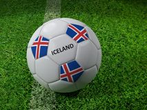 Pallone da calcio dell'Islanda Fotografie Stock Libere da Diritti