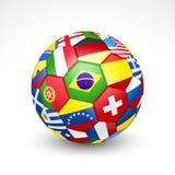 Pallone da calcio di calcio Fotografia Stock Libera da Diritti