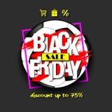 Pallone da calcio di vendita di Black Friday Immagine Stock