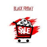 Pallone da calcio di vendita di Black Friday Fotografia Stock Libera da Diritti