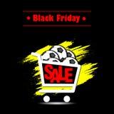Pallone da calcio di vendita di Black Friday Fotografie Stock Libere da Diritti
